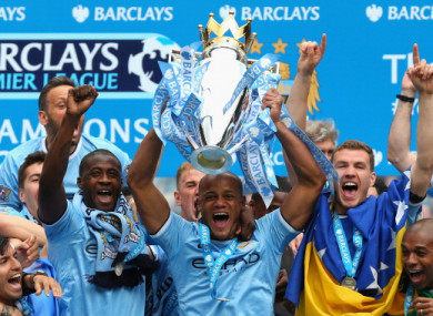 Vincent Kompany will be looking to lift the Premier League title for the third time in seven years.