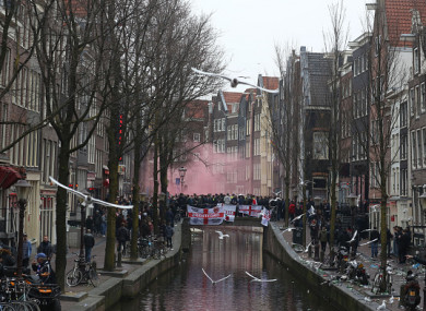 There was trouble in Amsterdam before this evening's friendly.
