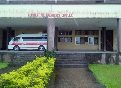 The University of Calabar Teaching Hospital in Nigeria.