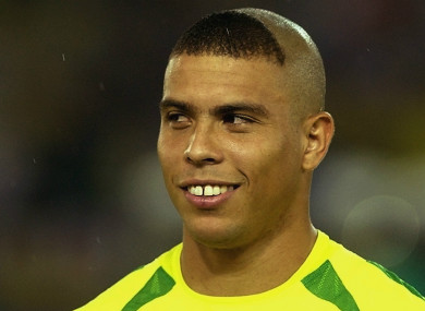 Ronaldo pictured at the 2002 World Cup.