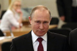 Russian President Vladimir Putin voting today