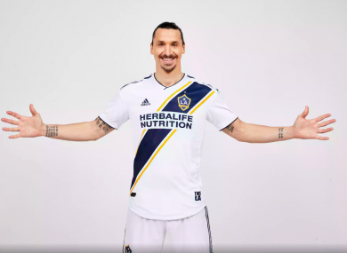 Ibrahimovic joined on a free transfer.