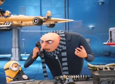 Still from a Sky ad featuring Despicable Me characters