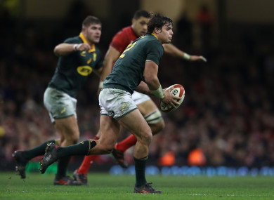 Venter has won seven caps for the Springboks.