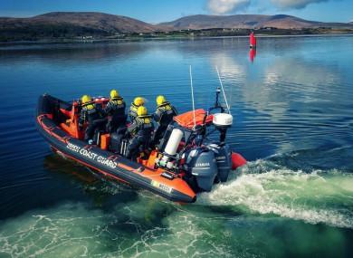 The Coast Guard rescue boat in Achill.