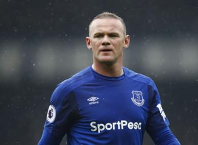 Wayne Rooney showed his displeasure at being substituted by Sam Allardyce during the Merseyside Derby.