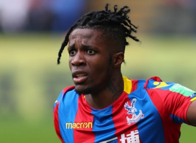 Wilfried Zaha (file pic).