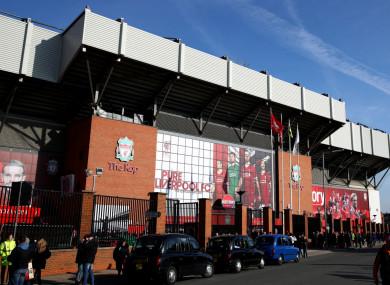 Liverpool's Anfield stadium.