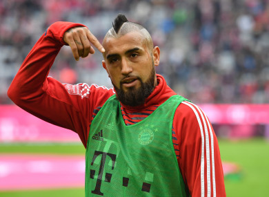 Arturo Vidal has made 39 appearances in all competitions for Bayern this season.