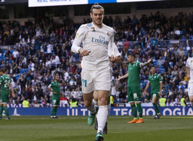 Real Madrid winger Gareth Bale.