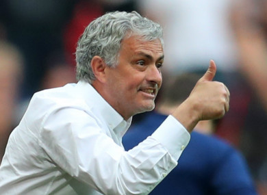 Jose Mourinho led Man United towards an FA Cup final yesterday at Wembley.