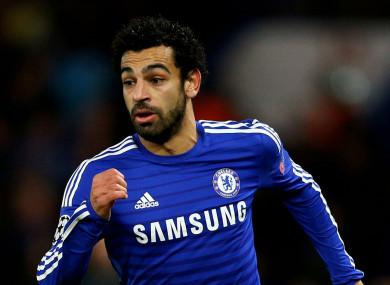 Mo Salah during his time at Chelsea.