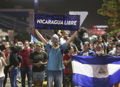 Anti-government protesters take to the streets in Nicaragua