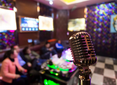 File photo of a karaoke lounge in China