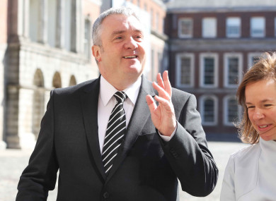 Dave Taylor arriving at Dublin Castle this morning