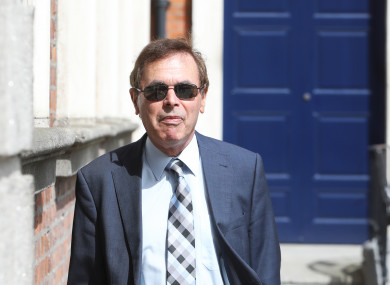 Alan Shatter arriving this afternoon.