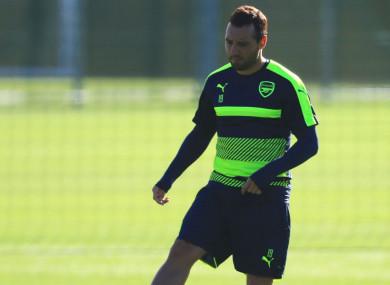 Arsenal's Santi Cazorla.