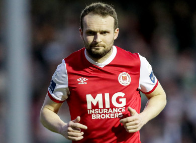 St Patrick's Athletic's Conan Byrne was among the goalscorers tonight.
