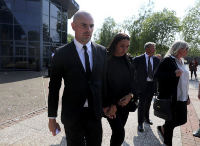Darron Gibson leaving South Tyneside Magistrates Court earlier.