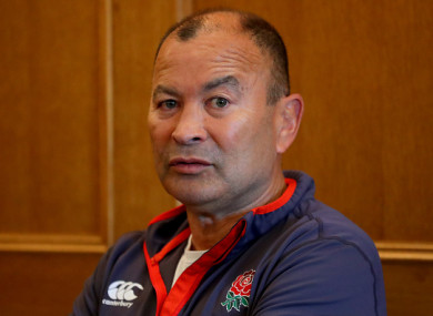 Jones speaking to reporters at Pennyhill Park earlier.