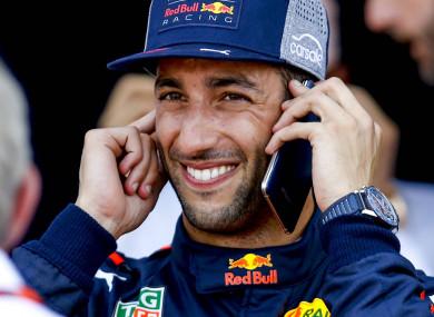 Daniel Ricciardo pictured earlier today.