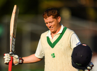 O'Brien is applauded off the field at Malahide.