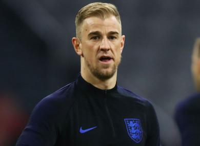 Joe Hart training with England