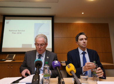 Tony O'Brien with Minister for Health Simon Harris