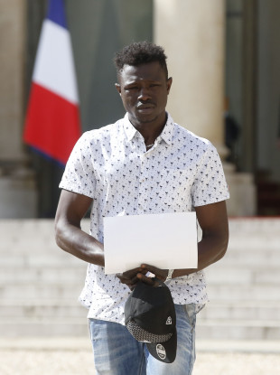 Gassama took his first steps towards French citizenship today.