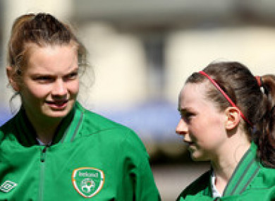 Saoirse in action for Ireland.