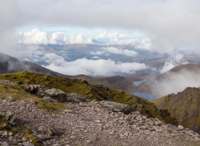 Fog near the peak of Carrauntoohil in the MacGillycuddy's Reeks (file photo).