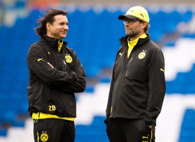 Klopp and Buvac during their Dortmund days.