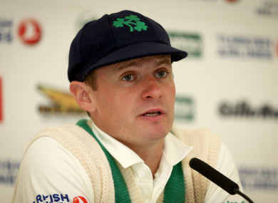Porterfield speaking after the conclusion of the Test match earlier.