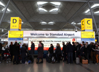 File photo: Stansted Airport