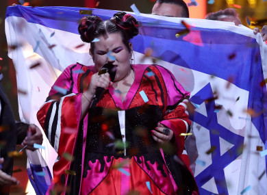 Eurovision Song Contest winner, Netta, of Israel.