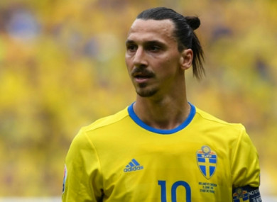 Zlatan Ibrahimovic will not line out for Sweden at the World Cup.