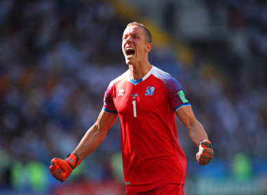 509253fb732 I tried to get inside their minds  - Iceland s heroic goalkeeper did ...