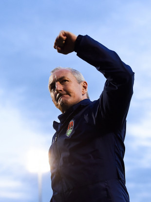 Cork City manager John Caulfield after last night's win over Waterford.