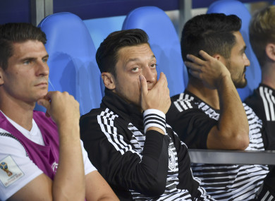 Mesut Ozil was dropped ahead of Germany's match with Mexico.