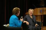Mary Robinson and Hillary Clinton at TCD today