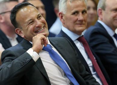 An Taoiseach Leo Varadkar at the launch of Feile An Phobail in Belfast.