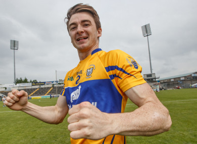 Clare's Niall Deasy celebrates a win over Tipp in Semple Stadium.