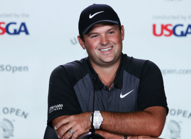Patrick Reed at his pre-U.S. Open media conference