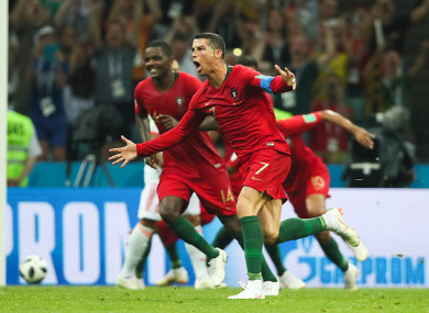 Ronaldo's stunning free-kick grabbed a point for Portugal.