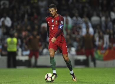 Cristiano Ronaldo is currently with Portugal at the World Cup.
