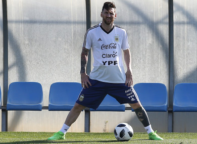 Argentina's Lionel Messi (file pic).