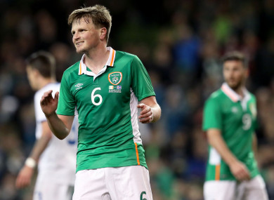 Gleeson in action against Iceland at the Aviva Stadium in March 2017.