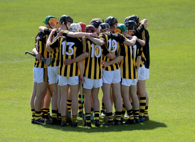 Kilkenny players form a huddle before their Round 1 clash with Dublin back in May (file pic).