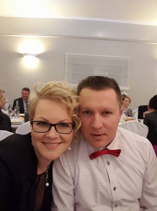 "Mikolaj ""Nick"" Wilk with his wife Elzbieta."