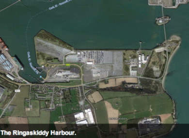The site in the Ringaskiddy harbour